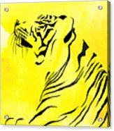 Tiger Animal Decorative Black And Yellow Poster 3 - By  Diana Van Acrylic Print