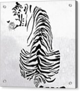 Tiger Animal Decorative Black And White Poster 4 - By  Diana Van Acrylic Print