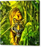 Tiger In The Forest Acrylic Print