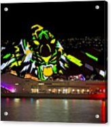 Tiger Tiger Burning Bright - Sydney Vivid Festival Acrylic Print