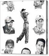 Tiger Woods-murphy Elliott Acrylic Print