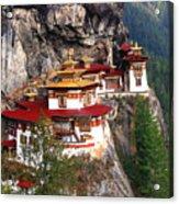 Tigers Nest Bhutan Acrylic Print