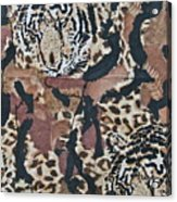 Tigers Tigers Burning Bright Acrylic Print by Ruth Edward Anderson