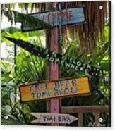 Tiki Bar Sign Acrylic Print