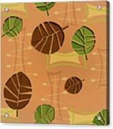 Tiki Lounge Wallpaper Pattern Acrylic Print