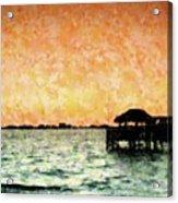Tiki Sunset Acrylic Print