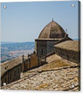 Tile Roof Tops Of Volterra Italy Acrylic Print