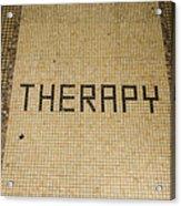 Tile Therapy Acrylic Print
