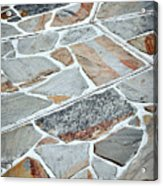 Tiles From Sandstone Quarried Stone Acrylic Print