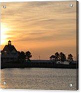 Tilghman Island Marina At Sunrise Acrylic Print