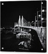 Tilikum Crossing Cutting Through The Night Acrylic Print