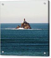 Tillamook Rock Lighthouse On A Calm Day Acrylic Print
