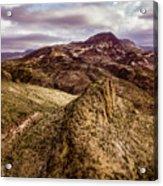 Tilt-shift Mountain Peak Acrylic Print