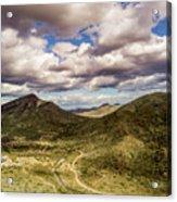 Tilt-shift Mountain Road Acrylic Print