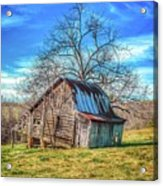 Tilted Log Cabin Acrylic Print