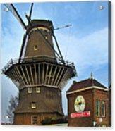 Tilting At Windmills In Amsterdam Acrylic Print