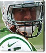 Tim Tebow Art Deco - New York Jets -  Acrylic Print by Lee Dos Santos