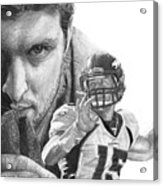Tim Tebow Acrylic Print by Bobby Shaw