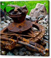 Timber Gears Built The West Acrylic Print