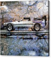 Time Machine Or The Retrofitted Delorean Dmc-12 Acrylic Print