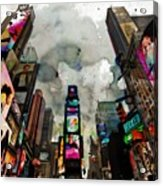 Time Square Mixed Media Acrylic Print