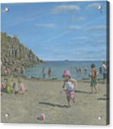 Time To Go Home - Porthgwarra Beach Cornwall Acrylic Print