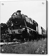 Time Travel By Steam B/w Acrylic Print