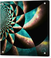 Time Travel Galaxy Portal To The Stars - Teal Green Acrylic Print