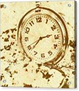 Time Worn Vintage Pocket Watch Acrylic Print