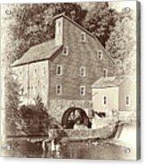 Timeless-clinton Mill N.j.  Acrylic Print