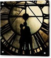 Timeless Love - Golden Brown Acrylic Print