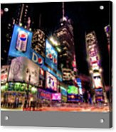 Times Square 2010 New Year Neon Acrylic Print