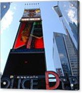 Times Square Cops Acrylic Print