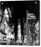 Times Square Don't Shine As Bright As You Acrylic Print by Ariane Moshayedi