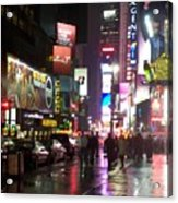 Times Square In The Rain 1 Acrylic Print