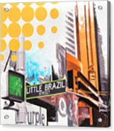 Times Square Little Brazil Acrylic Print