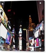Times Square New York City New Years Eve Acrylic Print
