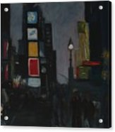 Times Square Night Acrylic Print