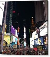 Times Square On A Tuesday. Acrylic Print