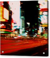 Times Square Painted Acrylic Print