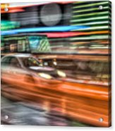 Times Square Traffic Acrylic Print