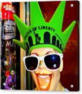 Times Square Trish Acrylic Print