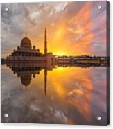 Timeslice A Day To Night Of By The Lake Acrylic Print