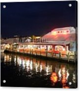 Tin City At Night -naples Fl Acrylic Print