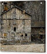 Tin Cup Chalice Rustic Barn Acrylic Print