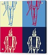 Tin Man Pop Art Poster Acrylic Print