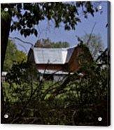 Tin Roofed Barn Acrylic Print by Richard Gregurich