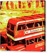 Tin Sign Travels Acrylic Print