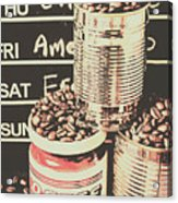 Tin Signs And Coffee Shops Acrylic Print