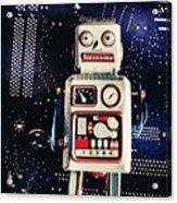 Tin Toy Robots Acrylic Print